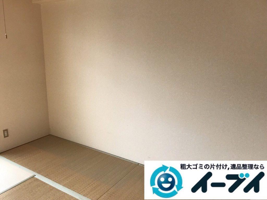 2018年2月24日大阪府大阪市港区でタンスや鏡台の家具処分や廃品の不用品回収をしました。写真1