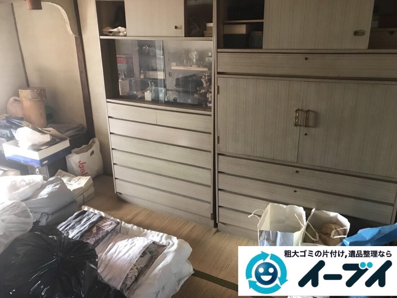 2018年2月25日大阪府大阪市此花区で絨毯や大型家具などを不用品回収しました。写真2