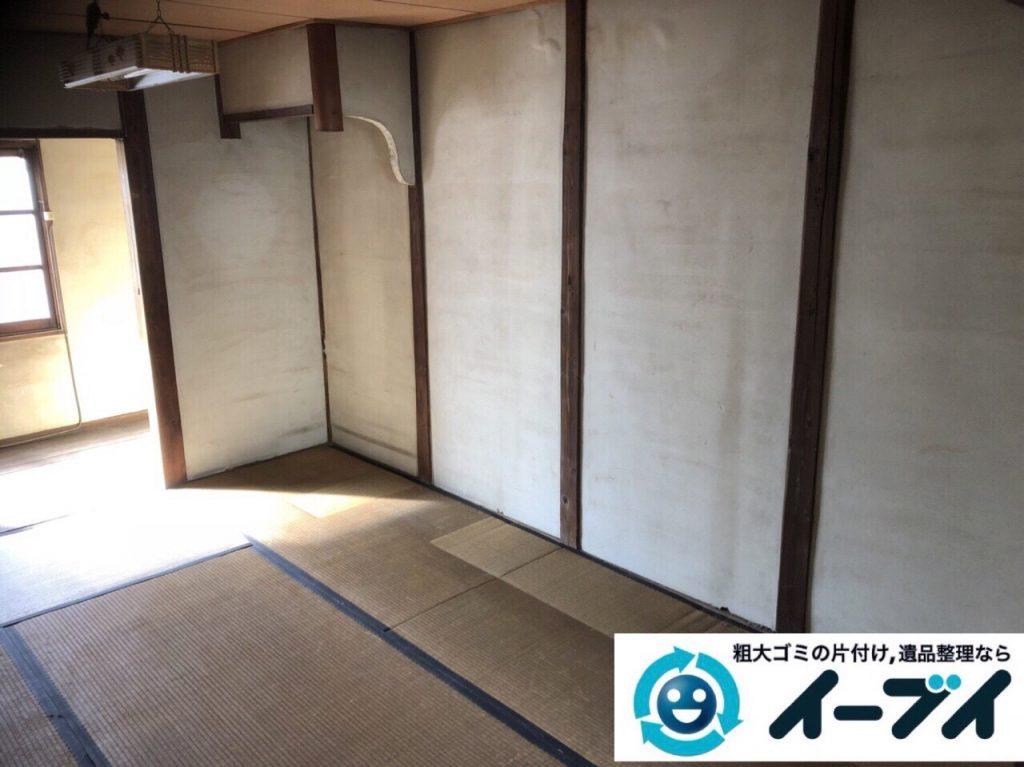 2018年2月25日大阪府大阪市此花区で絨毯や大型家具などを不用品回収しました。写真1
