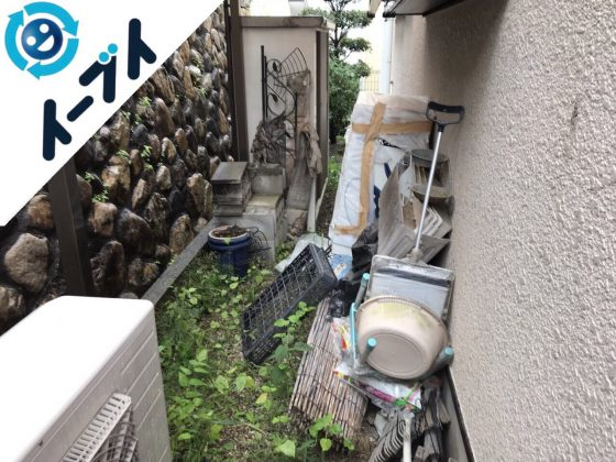 2018年4月2日大阪府摂津市で簾や廃品などの不用品回収をしました。写真1