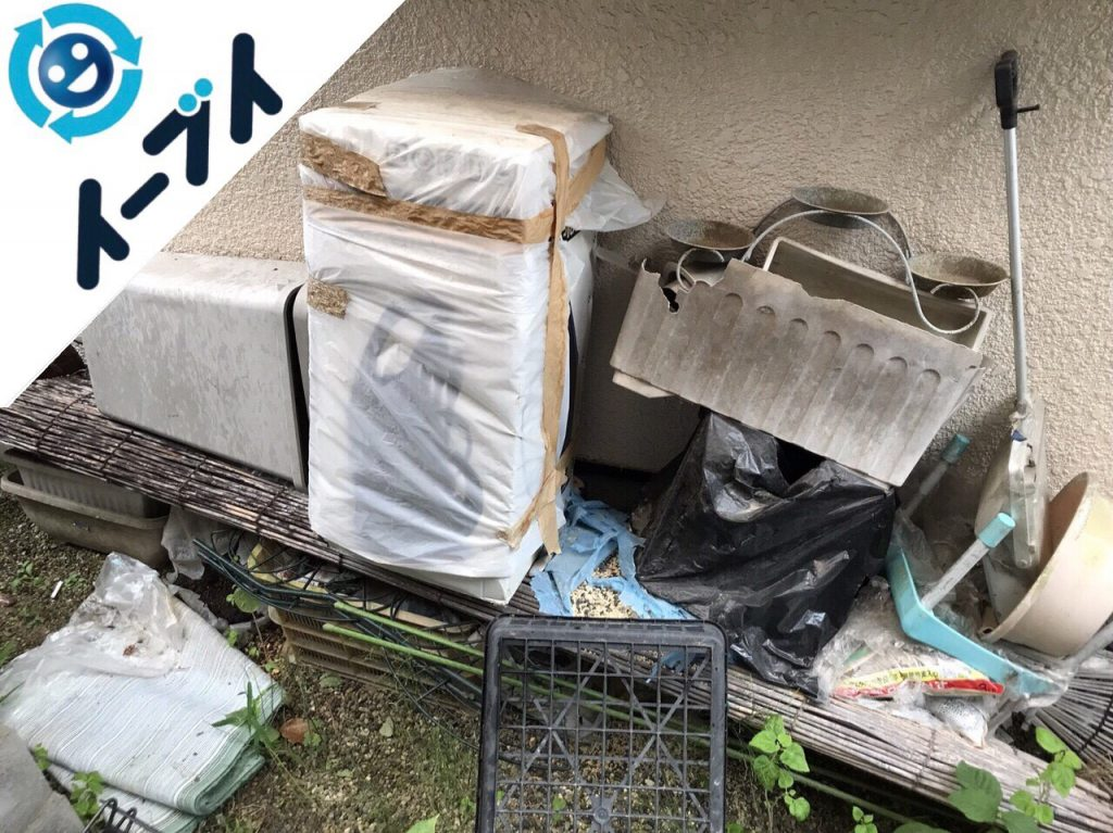 2018年4月2日大阪府摂津市で簾や廃品などの不用品回収をしました。写真3