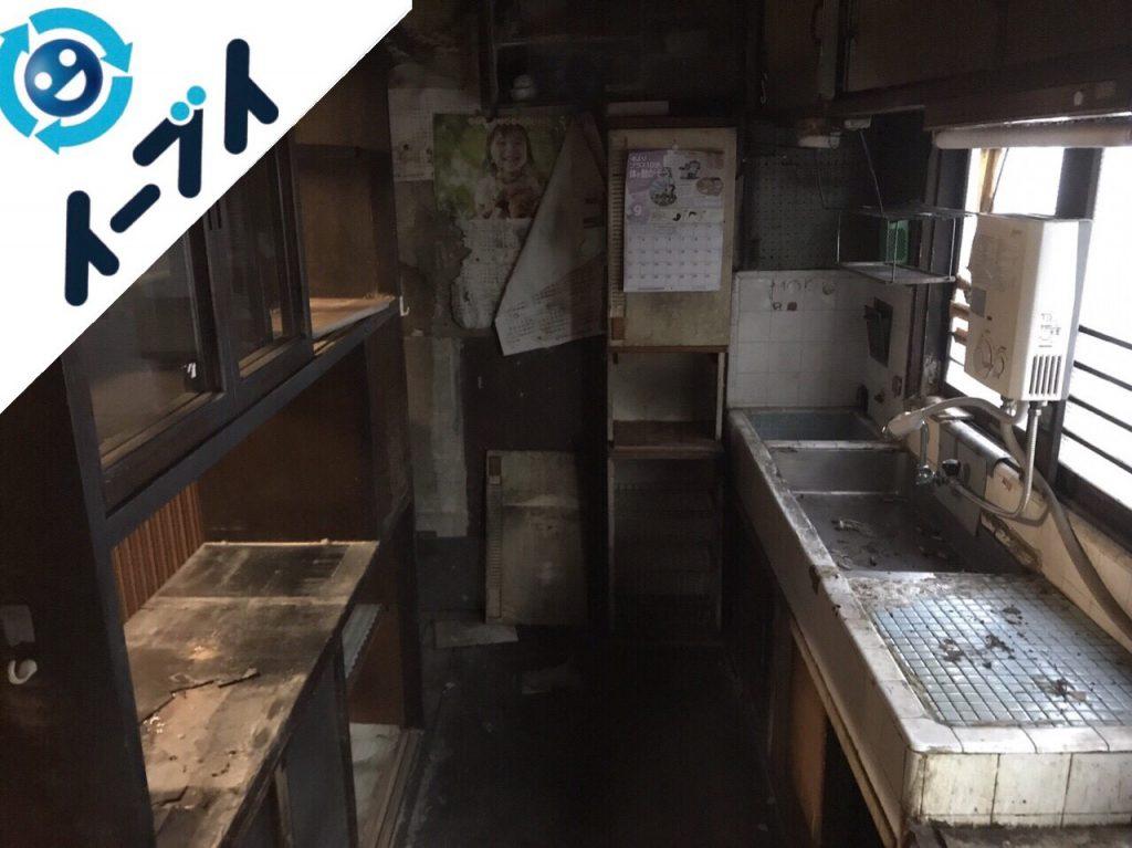 2018年4月5日大阪府堺市東区で食器棚や食品など片付け不用品回収をしました。写真1