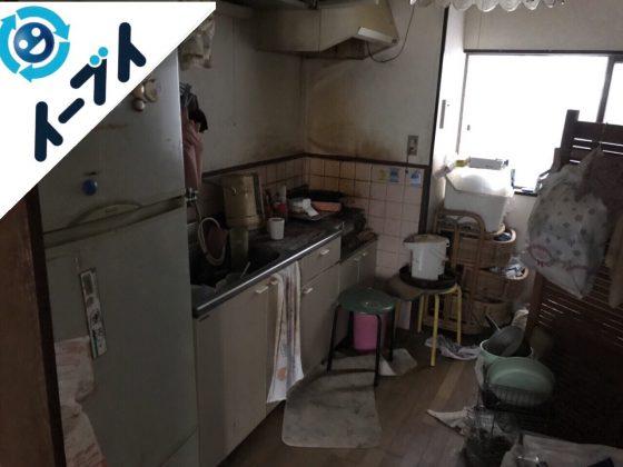 2018年3月21日大阪府池田市でゴミ屋敷化した台所の片付け処分をしました。写真2