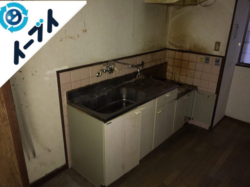 2018年3月21日大阪府池田市でゴミ屋敷化した台所の片付け処分をしました。写真1