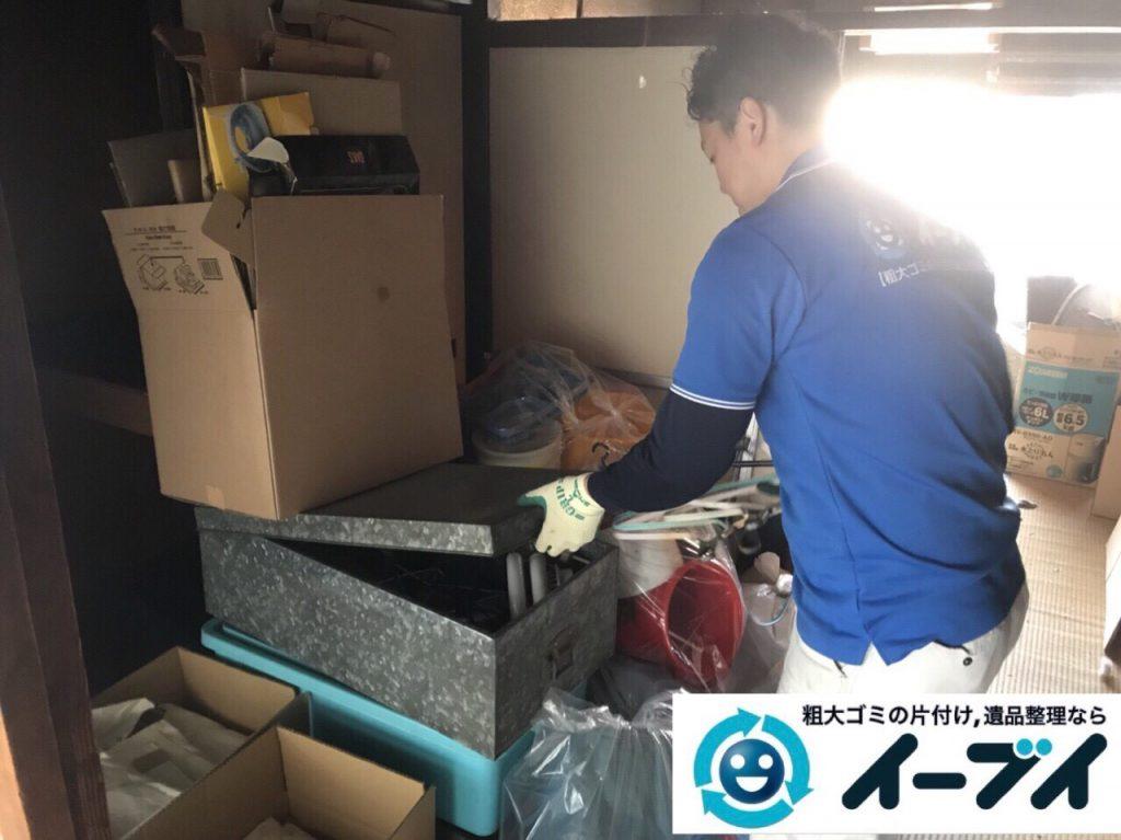 2018年3月5日大阪府堺市堺区で台所の食器棚や生活ゴミの不用品回収をしました。写真1