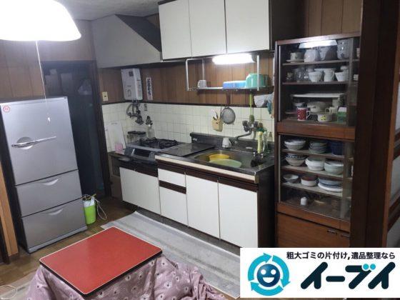 2018年3月5日大阪府堺市堺区で台所の食器棚や生活ゴミの不用品回収をしました。写真5