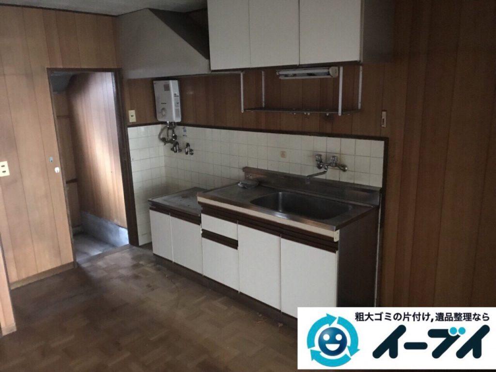 2018年3月5日大阪府堺市堺区で台所の食器棚や生活ゴミの不用品回収をしました。写真4