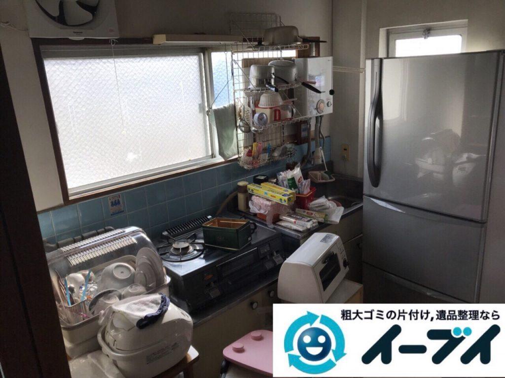 2018年3月23日写真大阪府大阪市鶴見区でガスコンロや冷蔵庫など家電製品の不用品回収をしました。写真1