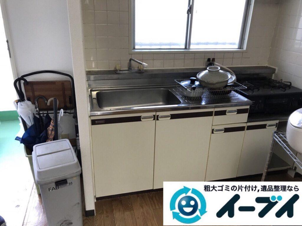 2018年3月8日大阪府堺市西区で廃家電や台所の調理器具など不用品回収をしました。写真2