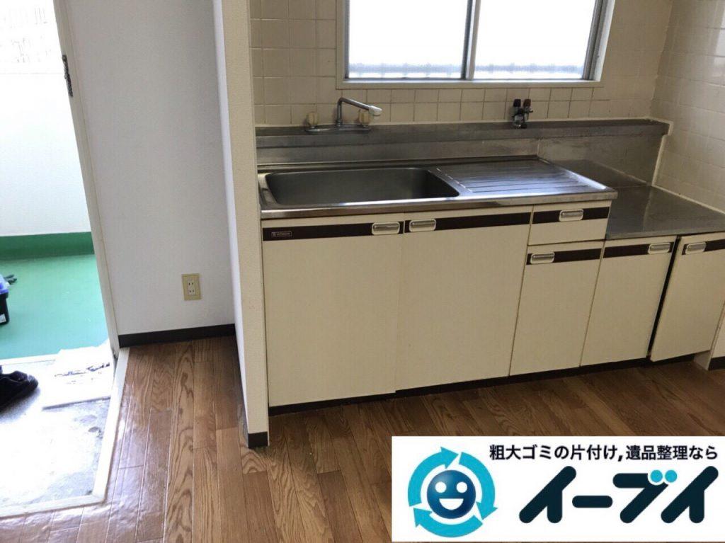 2018年3月8日大阪府堺市西区で廃家電や台所の調理器具など不用品回収をしました。写真1