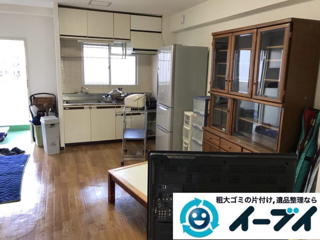 2018年3月6日大阪府大阪市西区で食器棚やコタツなど粗大ゴミの不用品回収をしました。写真2