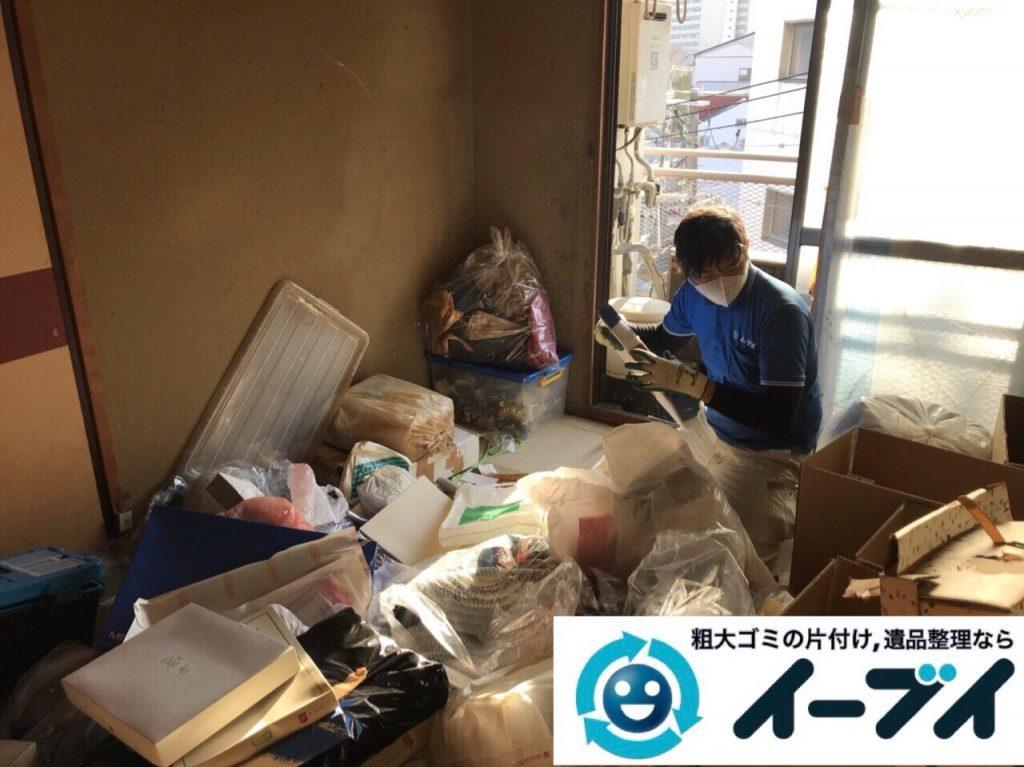 2018年3月3日大阪府大阪市平野区でゴミ屋敷状態の生活ゴミの片付け処分をしました。写真1