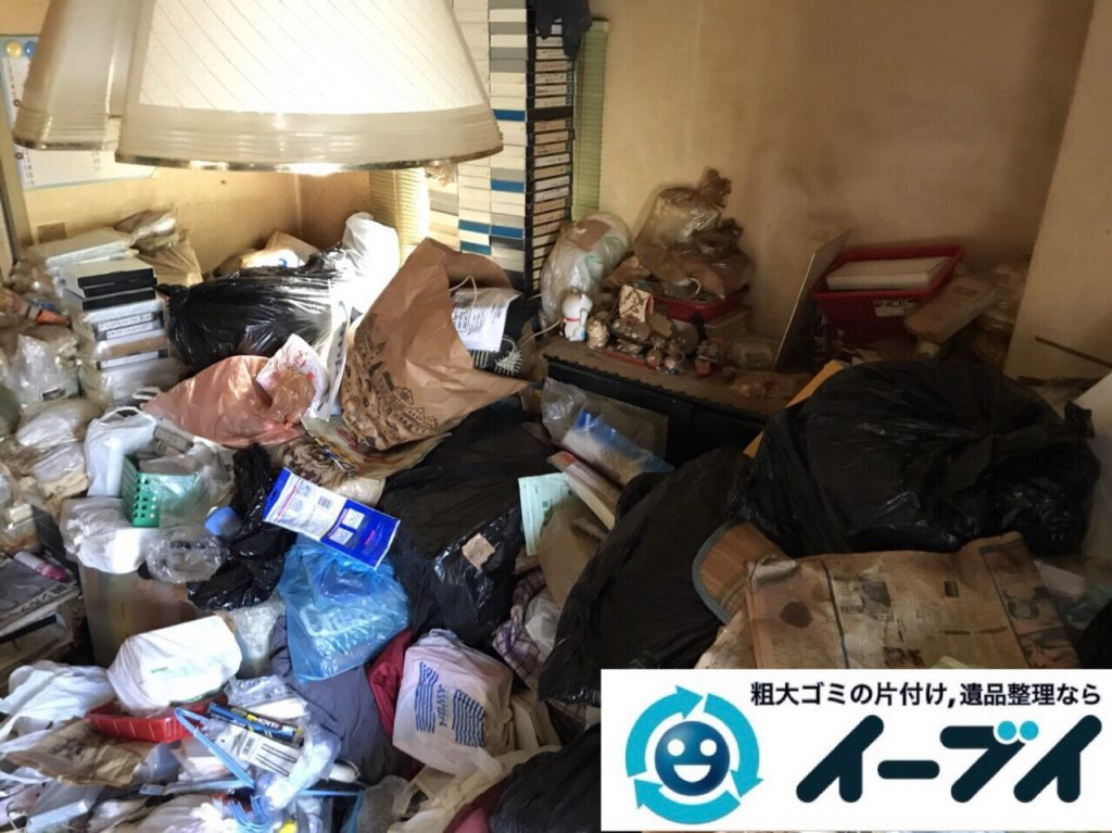 2018年3月3日大阪府大阪市平野区でゴミ屋敷状態の生活ゴミの片付け処分をしました。写真5