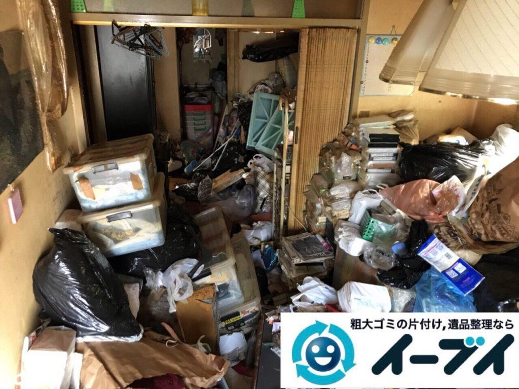 2018年3月3日大阪府大阪市平野区でゴミ屋敷状態の生活ゴミの片付け処分をしました。写真3