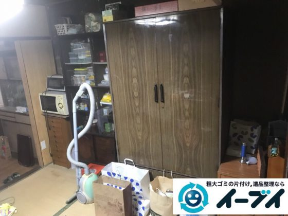 2018年3月11日大阪府和泉市で整理タンスや粗大ゴミの家財道具処分で不用品回収しました。写真3