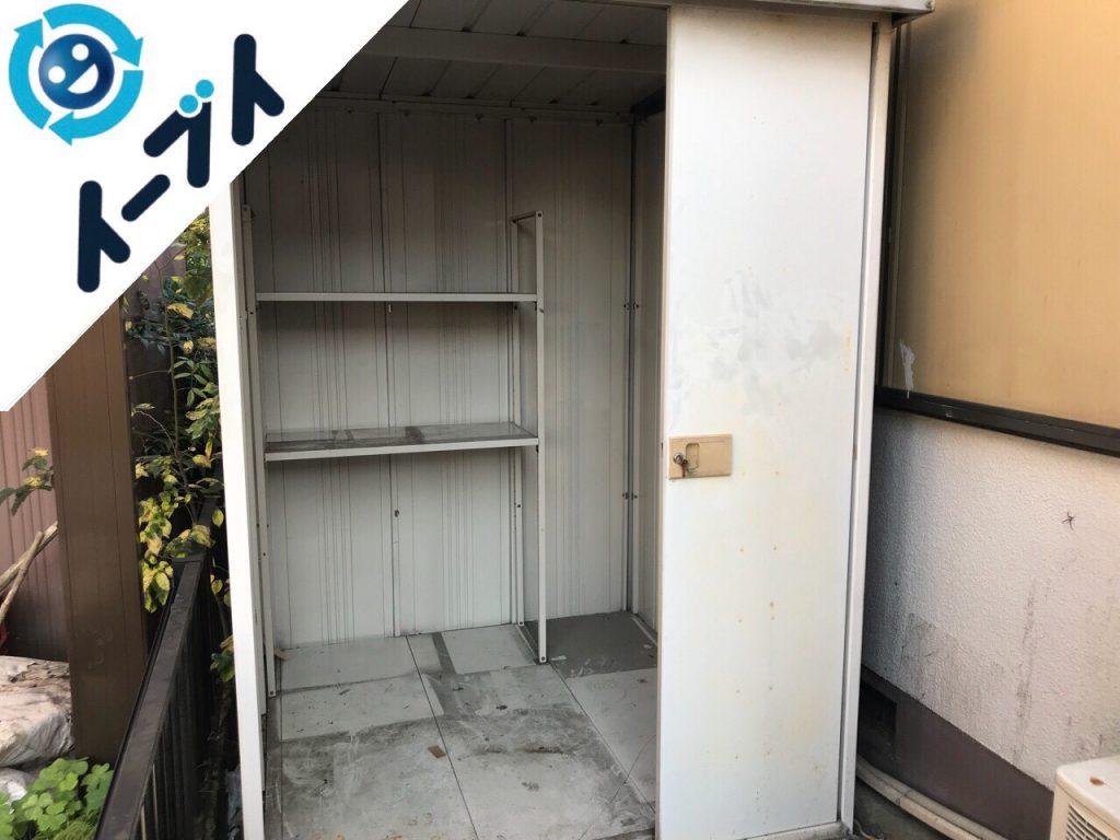 2018年5月2日大阪府四条畷市で物置の長年放置された廃品の不用品回収をしました。写真2