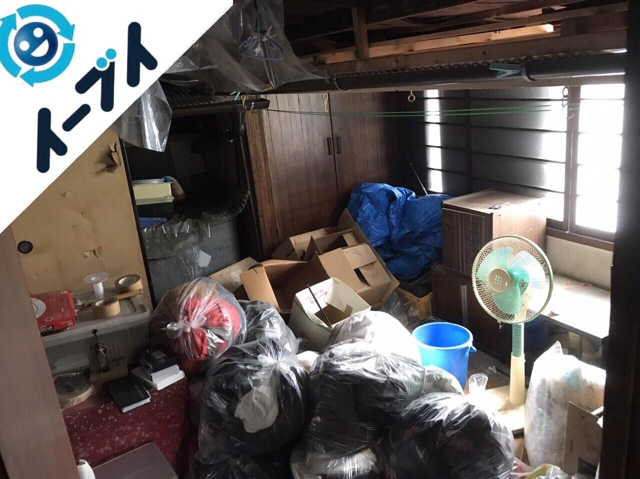 2018年4月29日大阪府堺市南区で部屋に散乱した廃品や粗大ゴミの処分をしました。写真4