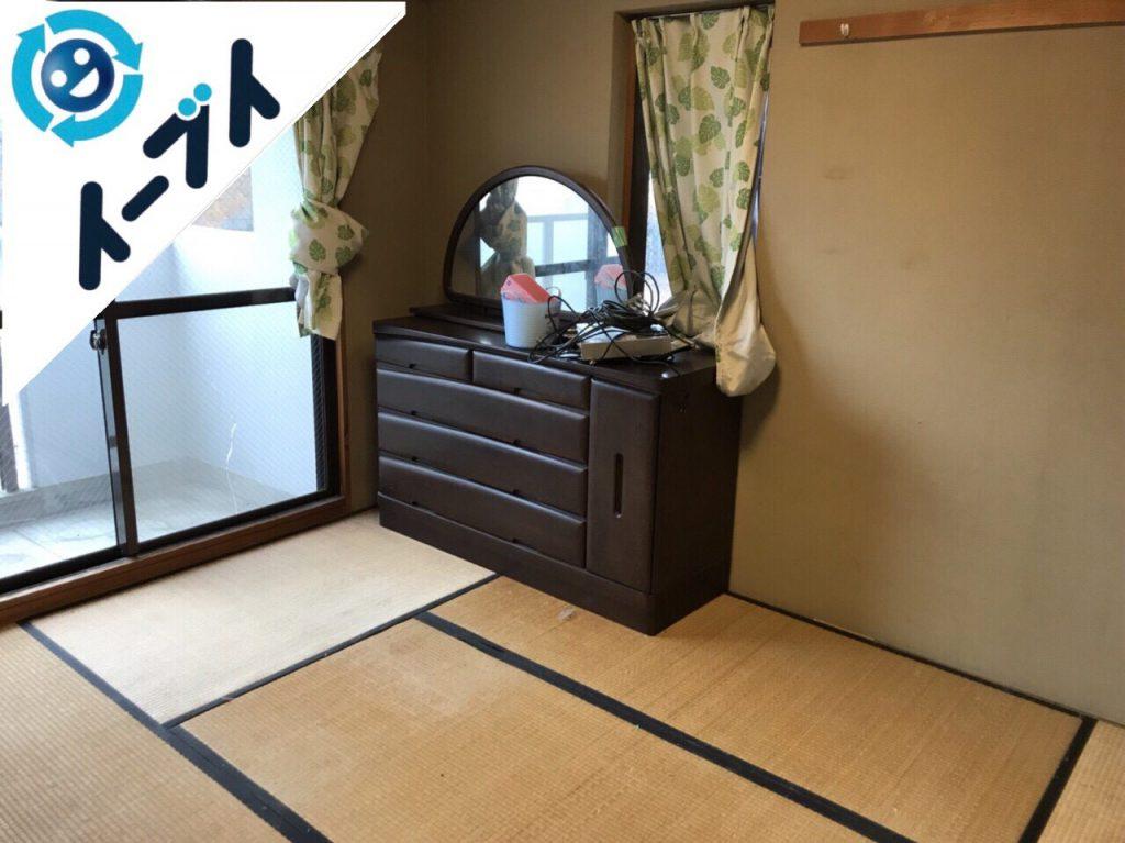 2018年4月17日大阪府三島郡島本町で荷物が散乱したゴミ屋敷状態の部屋を片付けました。写真2