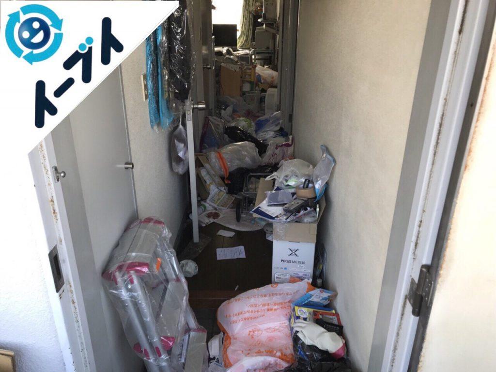 2018年5月5日大阪府摂津市でゴミ屋敷状態の生活用品の片付け処分。写真2