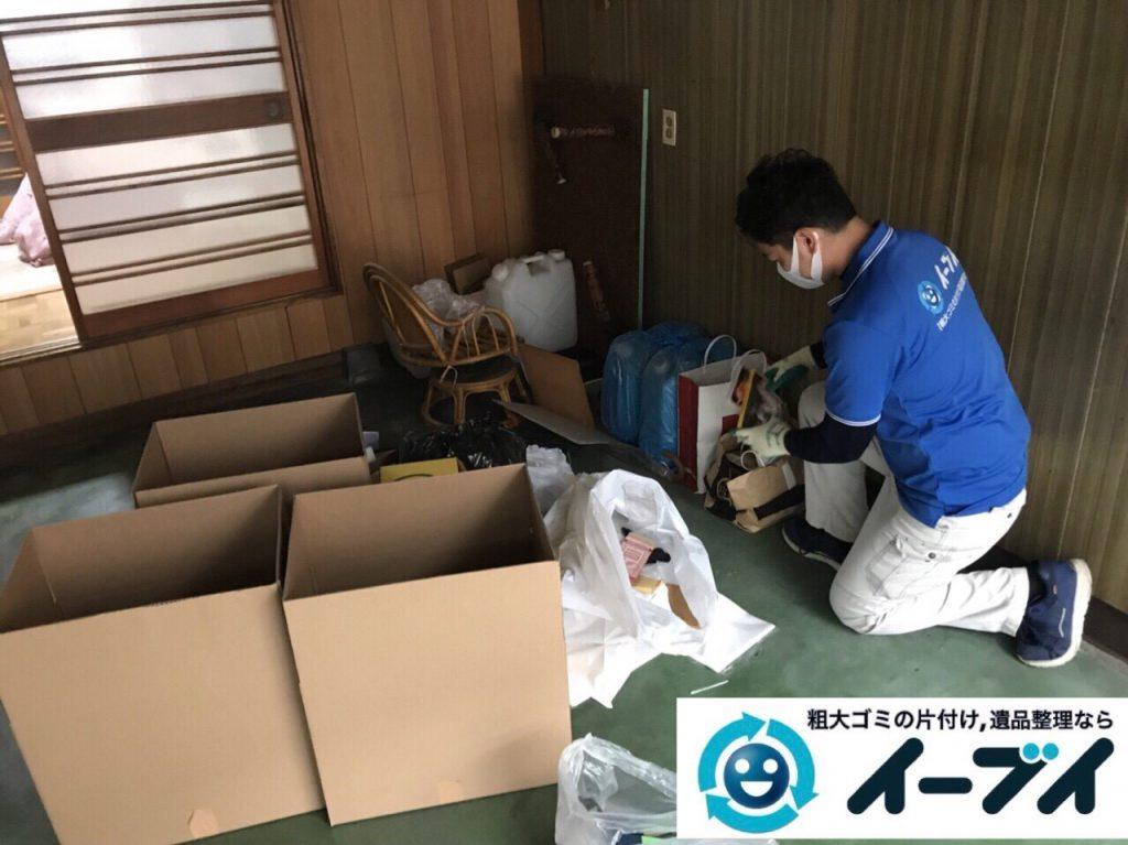 2018年4月20日大阪府大阪市浪速区で台所の生活用品や家具などの粗大ゴミの不用品回収。写真5