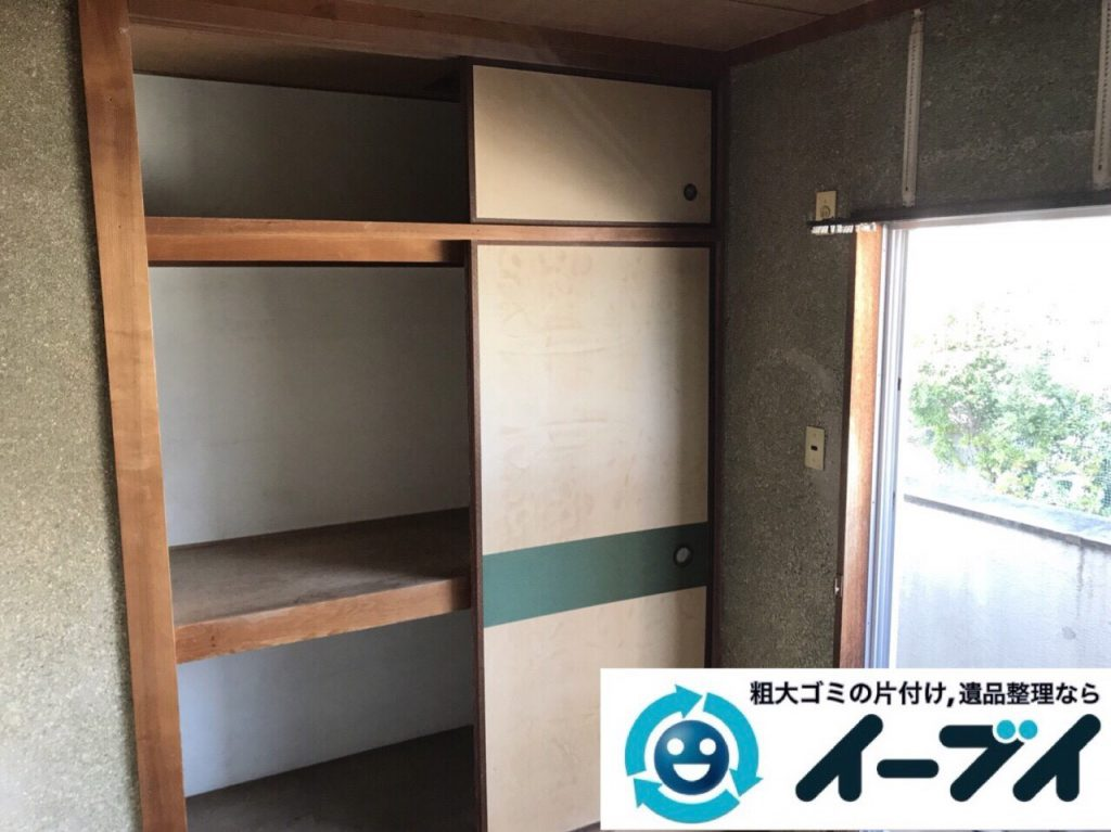2018年4月8日大阪府岸和田市で鏡や大型家具や押入れの粗大ゴミの不用品回収。写真2