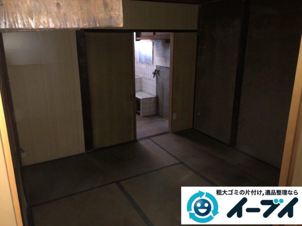 2018年4月20日大阪府大阪市浪速区で台所の生活用品や家具などの粗大ゴミの不用品回収。写真3