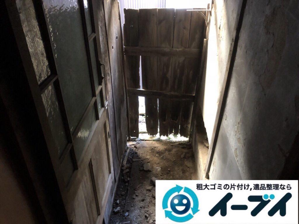 2018年4月11日大阪府大阪市都島区で物置の廃材や廃品の不用品回収をしました。写真4