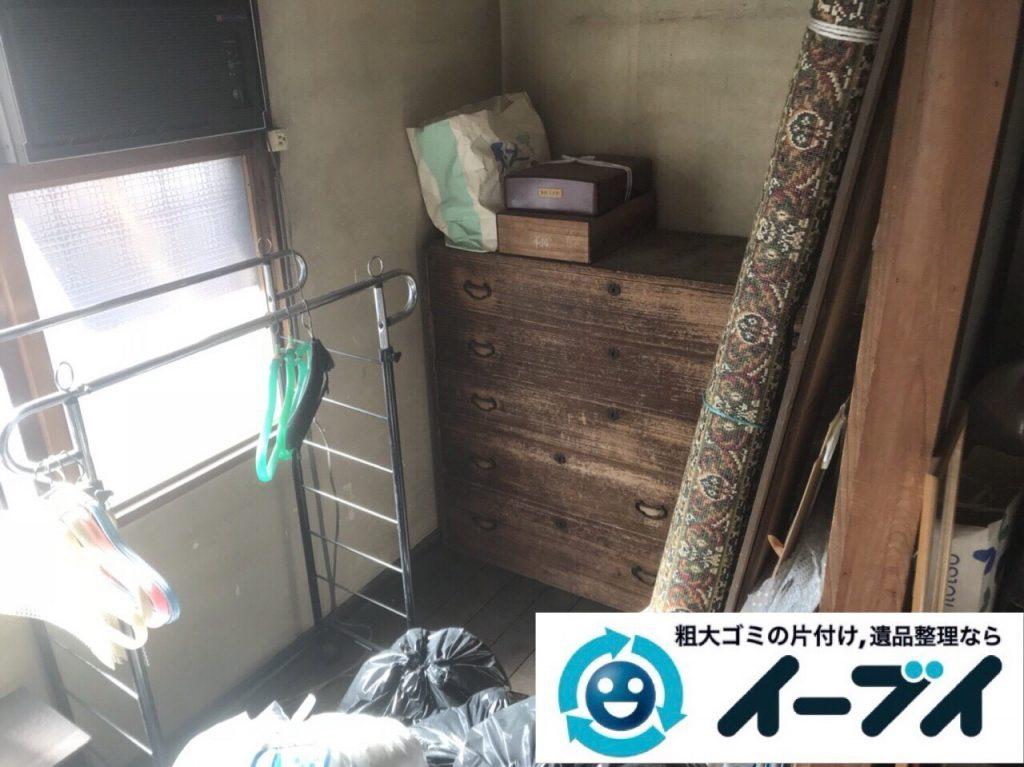 2018年4月11日大阪府大阪市都島区で物置の廃材や廃品の不用品回収をしました。写真3