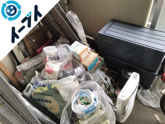 2018年5月7日大阪府寝屋川市でベランダの自転車や衣装ケースなどの不用品回収をしました。写真4