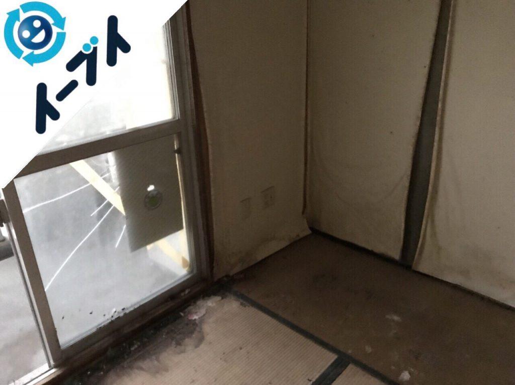 2018年5月26日大阪府豊中市でゴミ部屋状態の汚部屋の片付けをしました。写真5