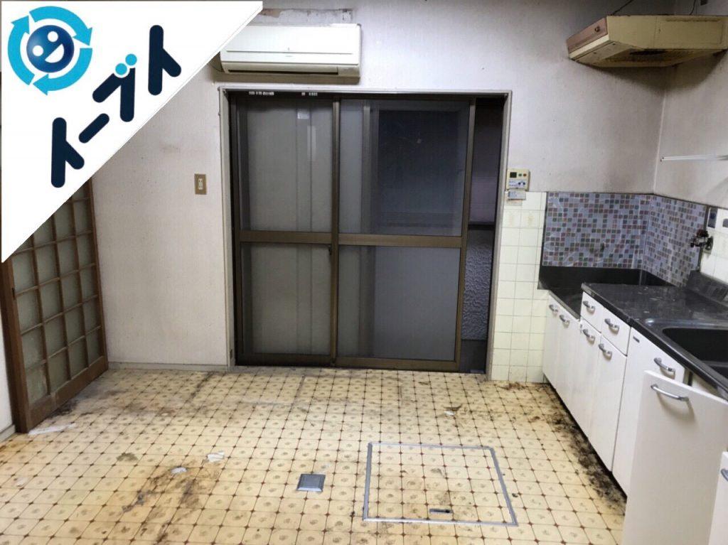 2018年5月8日大阪府泉南市でゴミ屋敷の台所の家具処分や片付けをしました。写真3