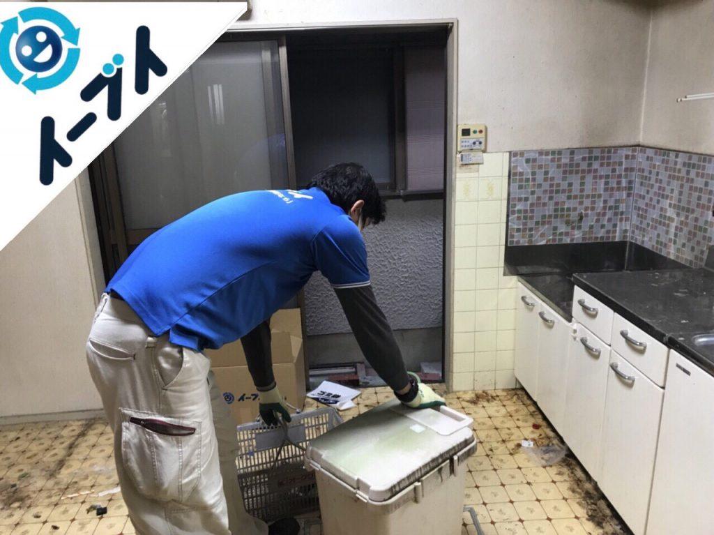 2018年5月8日大阪府泉南市でゴミ屋敷の台所の家具処分や片付けをしました。写真2