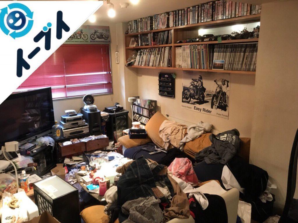 2018年5月11日大阪府八尾市で生活用品で溢れた汚部屋化したゴミ屋敷の片付け。写真3