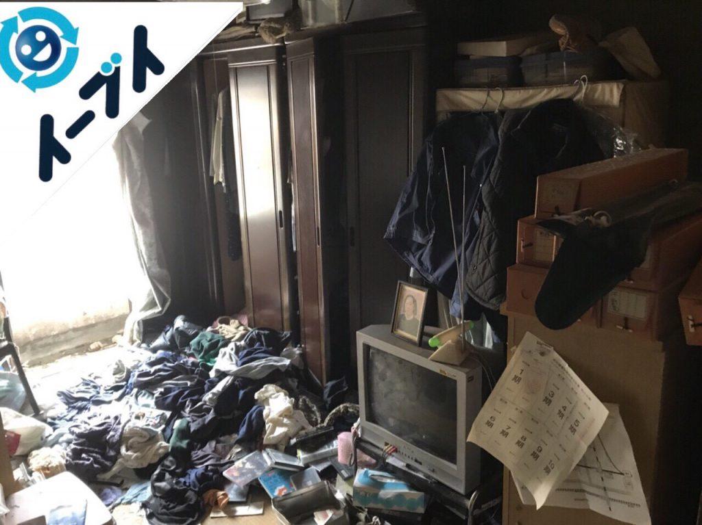 2018年6月1日大阪府枚方市でゴミ屋敷化した長年放置された部屋の片付け。写真3