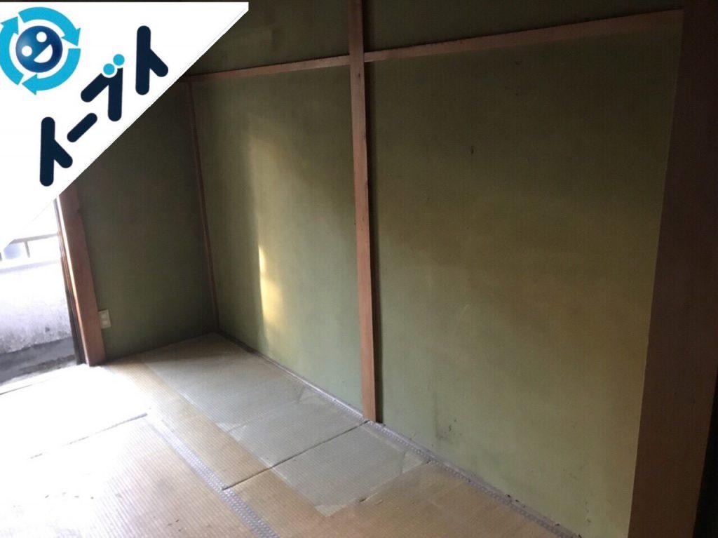 2018年6月1日大阪府枚方市でゴミ屋敷化した長年放置された部屋の片付け。写真2