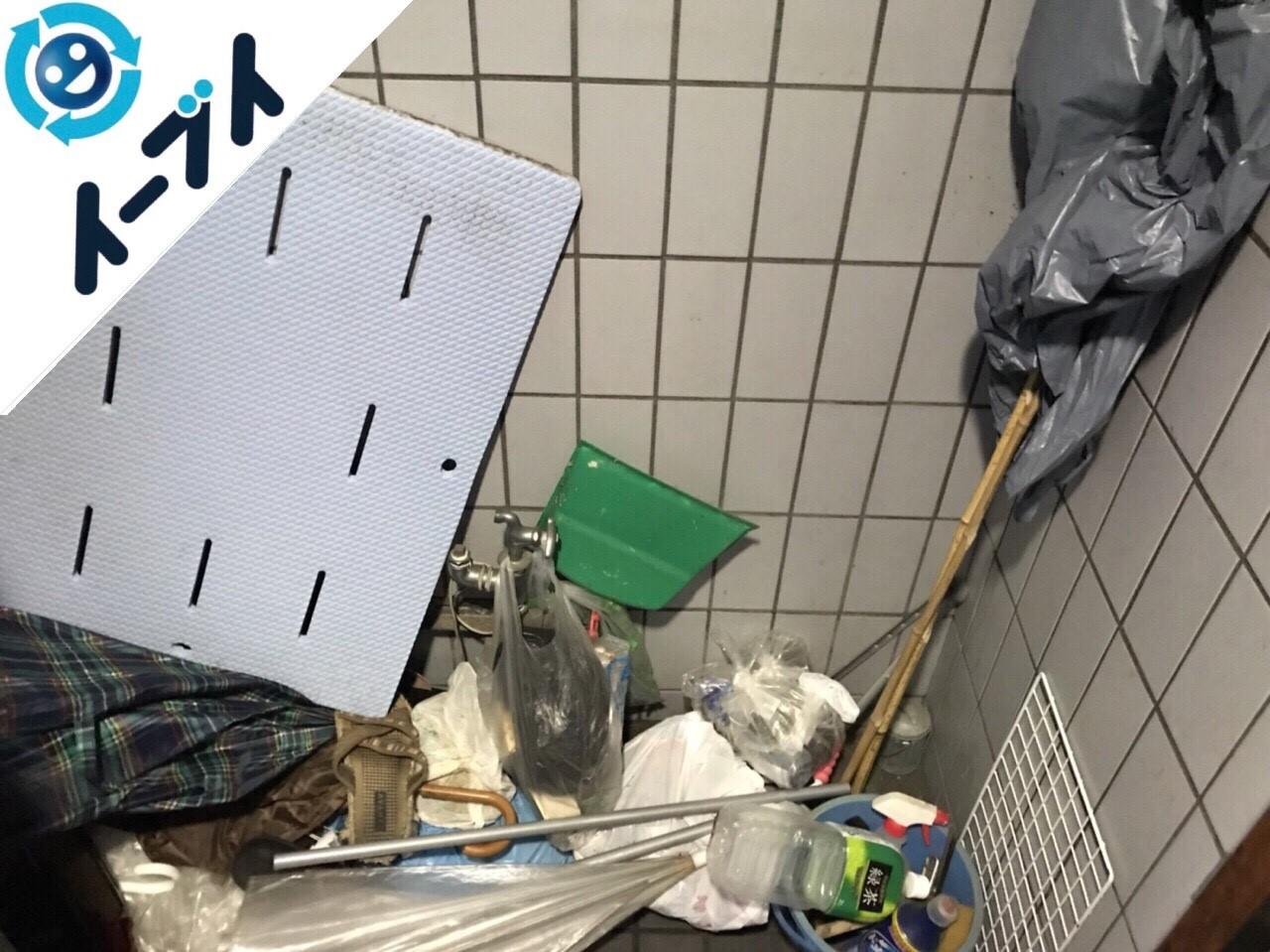 2018年5月20日大阪府箕面市で管理会社からの依頼でマンション共有部分の粗大ゴミの不用品回収をしました。写真2