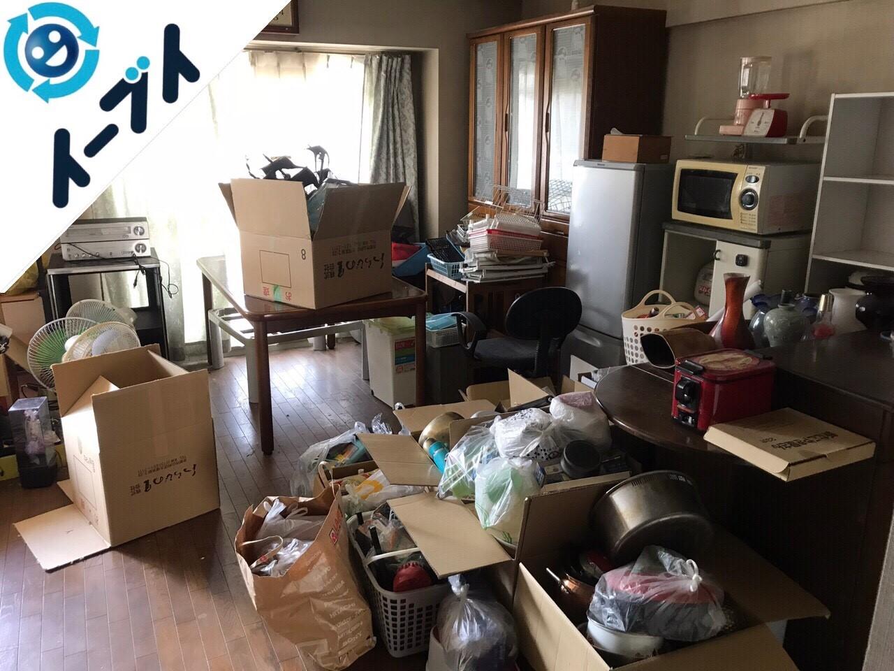 2018年6月3日大阪府池田市で食器棚やキッチン用品など片付けと粗大ゴミの不用品回収をしました。写真4