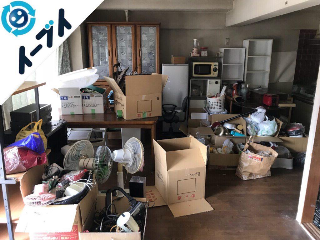 2018年6月3日大阪府池田市で食器棚やキッチン用品など片付けと粗大ゴミの不用品回収をしました。写真2