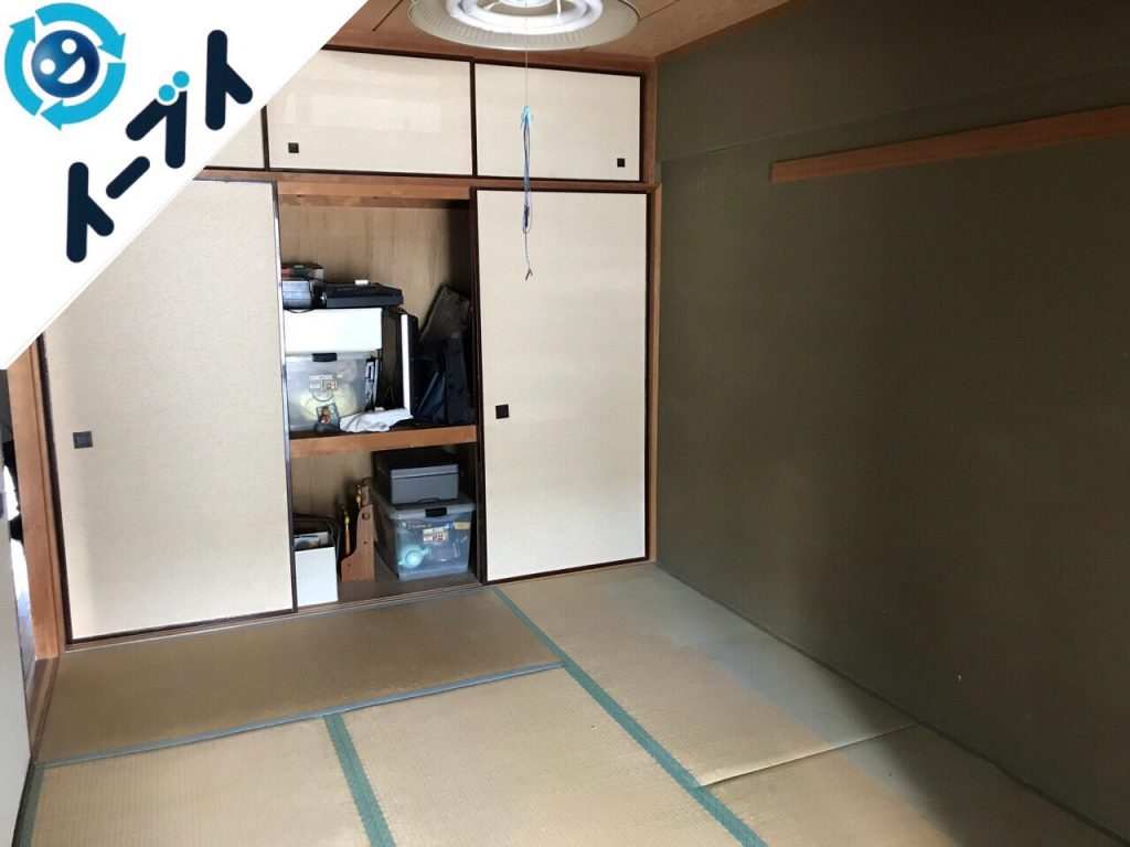 2018年5月31日大阪府摂津市で押入れの布団や和ダンスなど粗大ゴミの不用品回収をしました。写真3