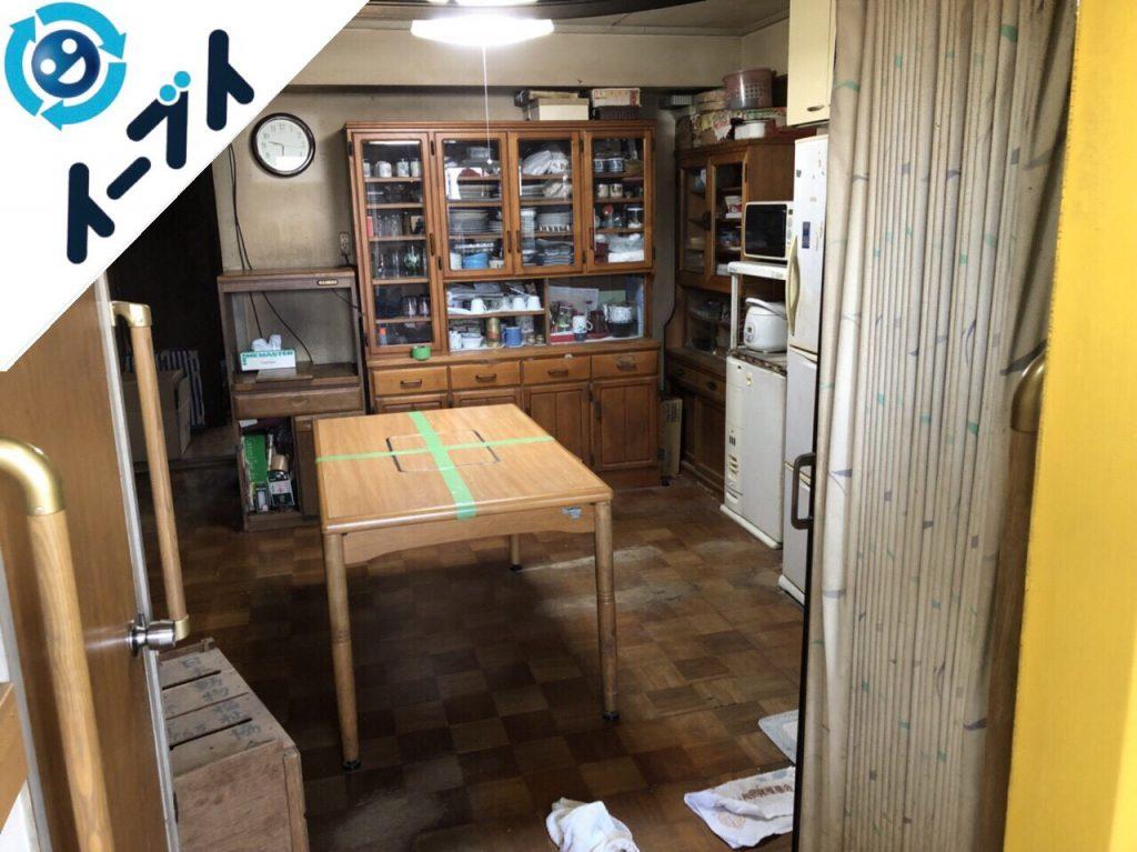 2018年5月29日大阪府箕面市でダイニングテーブルや食器棚など粗大ゴミの不用品回収をしました。写真6