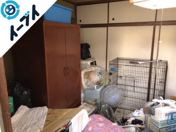 2018年5月23日大阪府枚方市で大型家具やペットゲージなど粗大ゴミの不用品回収をしました。写真3