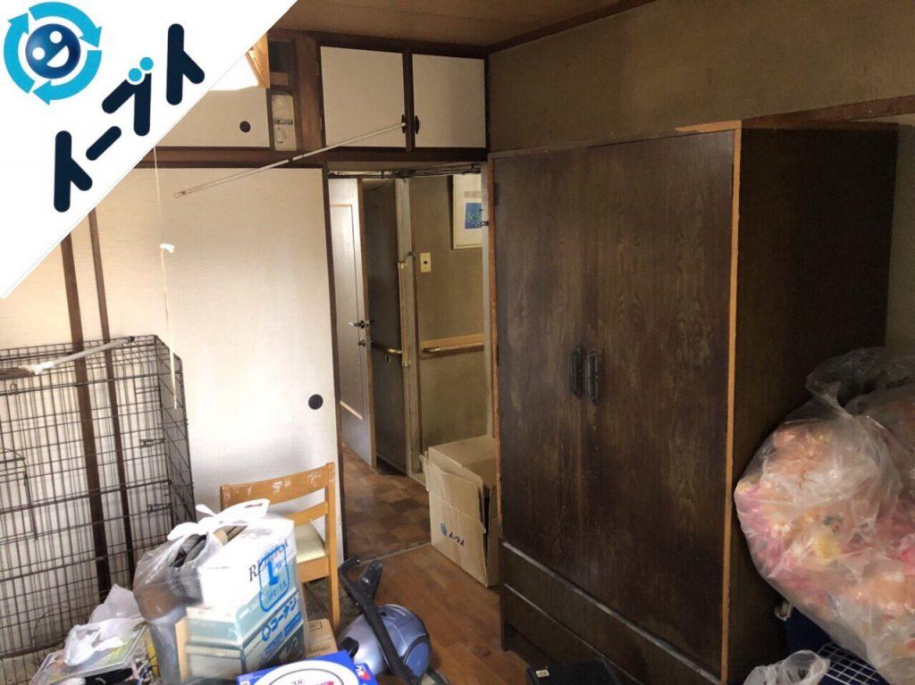 2018年5月23日大阪府枚方市で大型家具やペットゲージなど粗大ゴミの不用品回収をしました。写真2