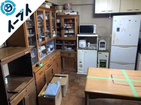 2018年5月29日大阪府箕面市でダイニングテーブルや食器棚など粗大ゴミの不用品回収をしました。写真4