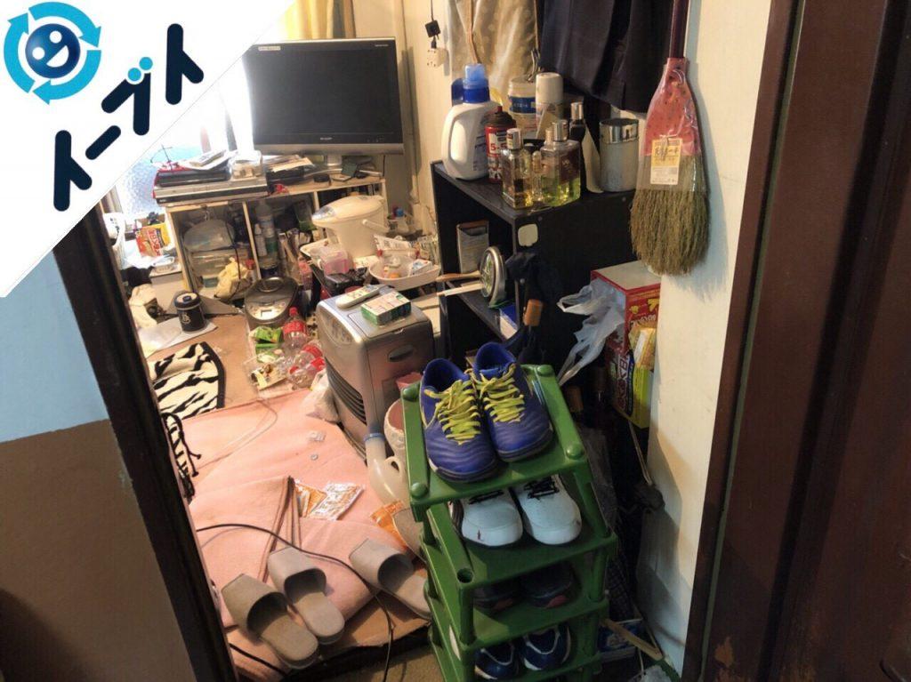 2018年5月14日大阪府茨木市でテレビや布団など生活ゴミや粗大ゴミの不用品回収をしました。写真2
