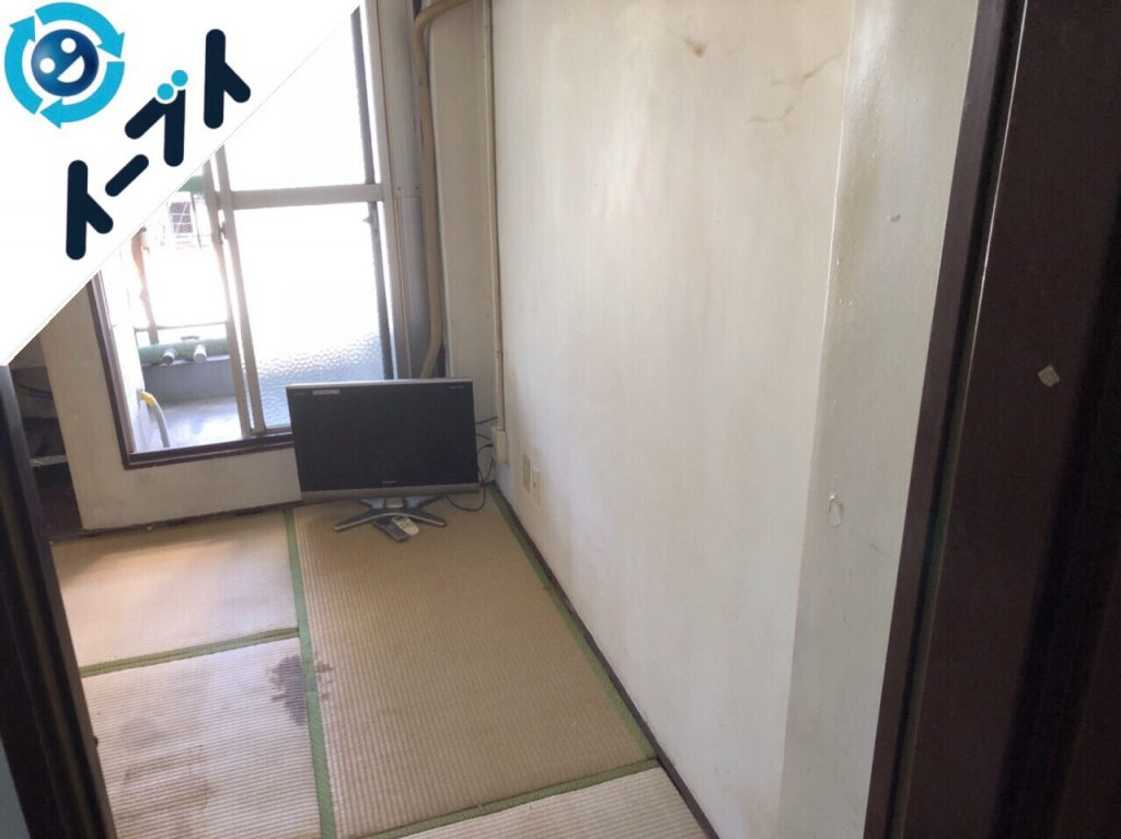 2018年5月14日大阪府茨木市でテレビや布団など生活ゴミや粗大ゴミの不用品回収をしました。写真1