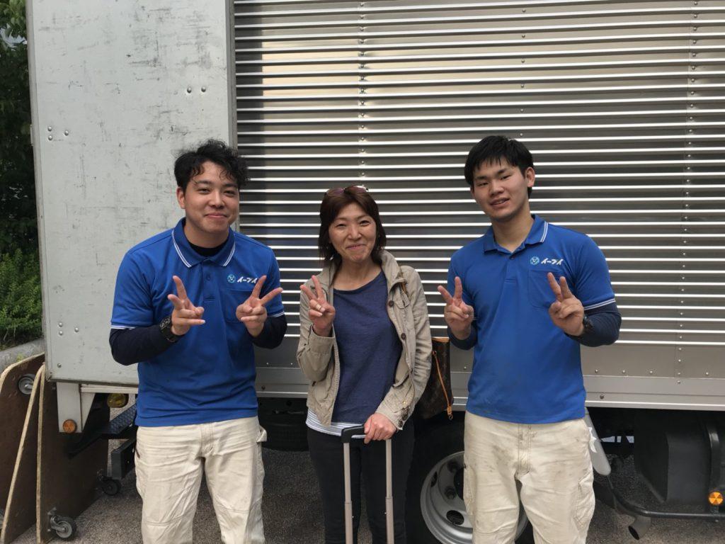 大阪府東大阪市のお客様より冷蔵庫や洋服タンス等の粗大ゴミの回収をさせて頂きました。