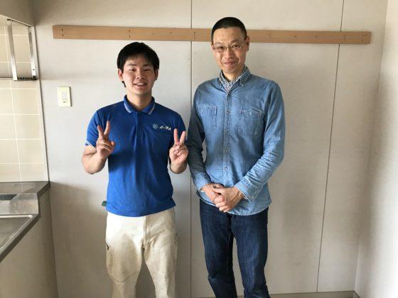 2018年5月28日大阪府八尾市のお客様より 冷蔵庫や洋服タンス等の家材道具の処分でイーブイを利用して頂きました。写真1
