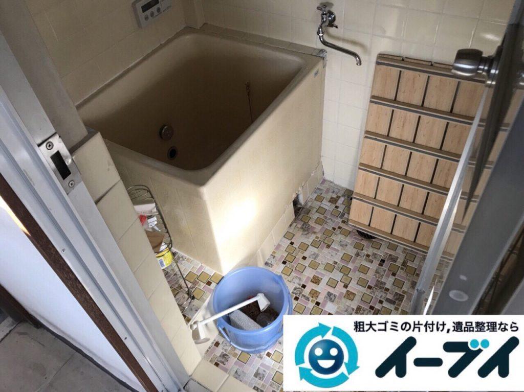 2018年6月15日大阪府大阪市淀川区で食器棚や食器、浴室の片付けで粗大ゴミの処分。写真5