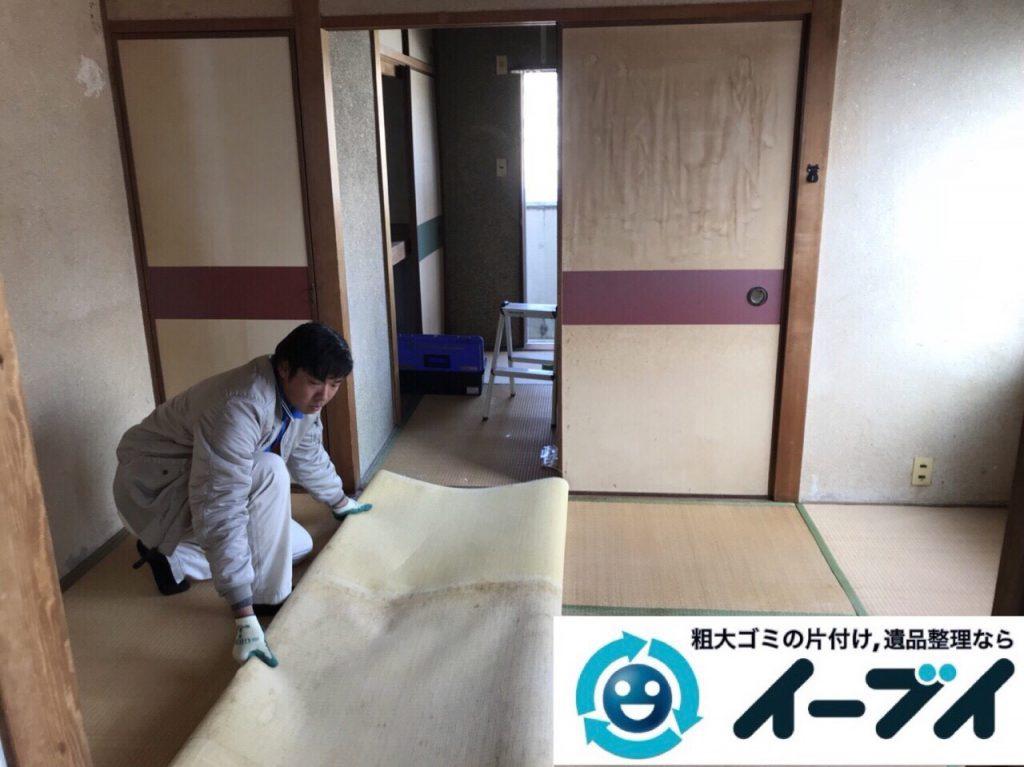 2018年6月15日大阪府大阪市淀川区で食器棚や食器、浴室の片付けで粗大ゴミの処分。写真1