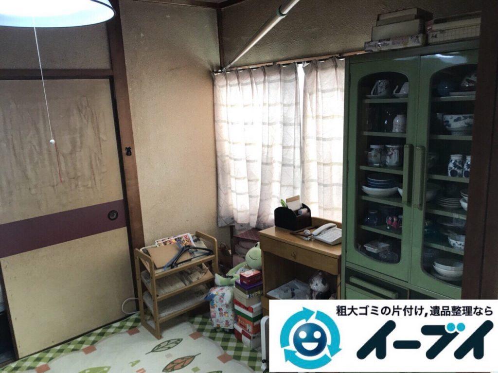 2018年6月15日大阪府大阪市淀川区で食器棚や食器、浴室の片付けで粗大ゴミの処分。写真3